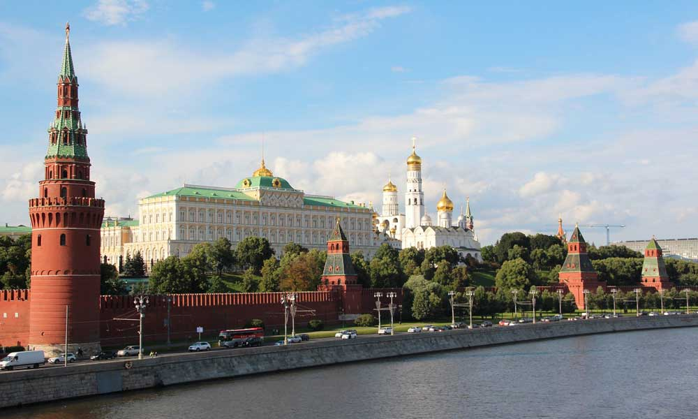 Shows Russian parliament buildings