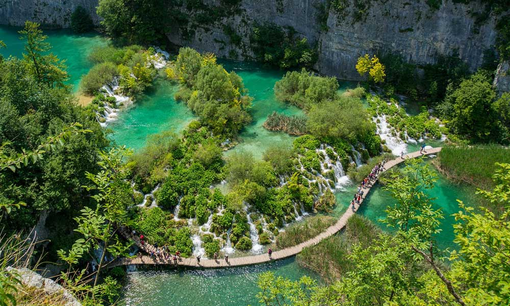 Shows Plitvice National Park in Croaita - adventure holidays in July