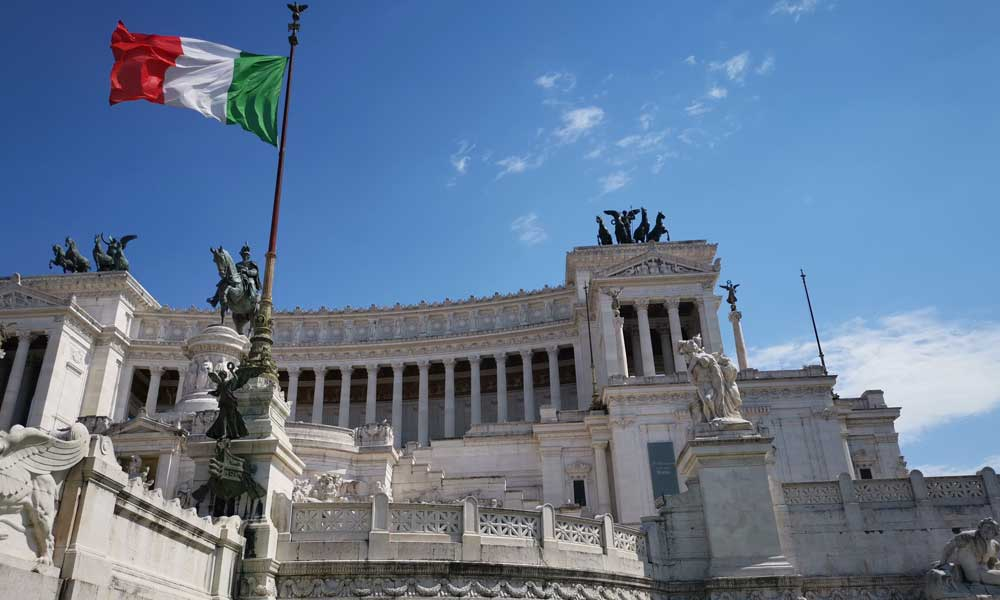 Shows the Altar of the Fatherland - Rome Cruise Guide