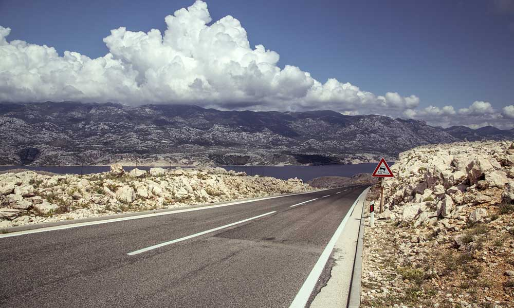 Best Zadar day-trips and Excursions - Shows the eerie roads of Pag island
