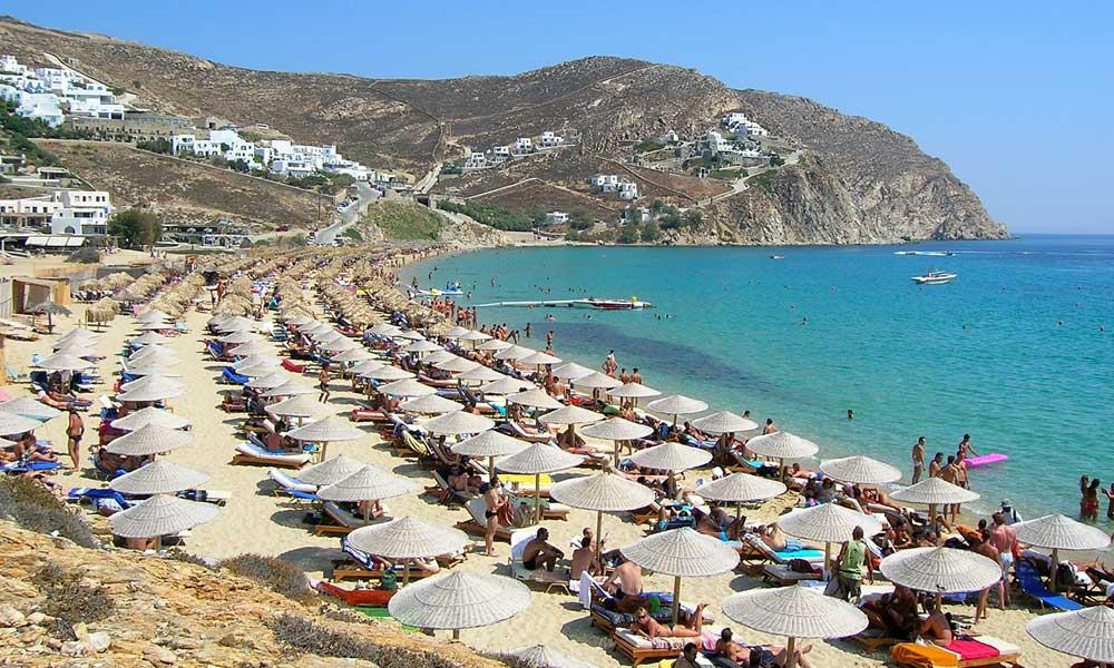 Best beach holidays in September - shows Mykonos beach