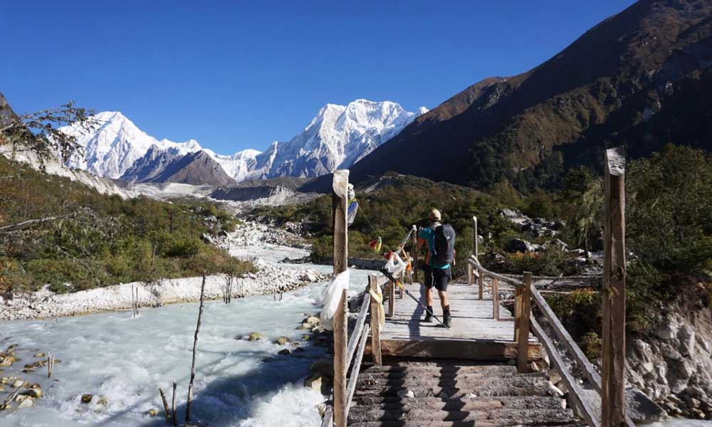 The best Nepal treks - shows the Larke Pass trekking trail