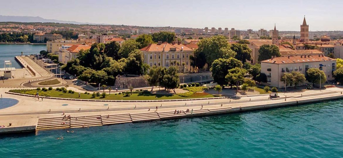 Best things to do in Zadar - Shows Zadar city promenade and buildings