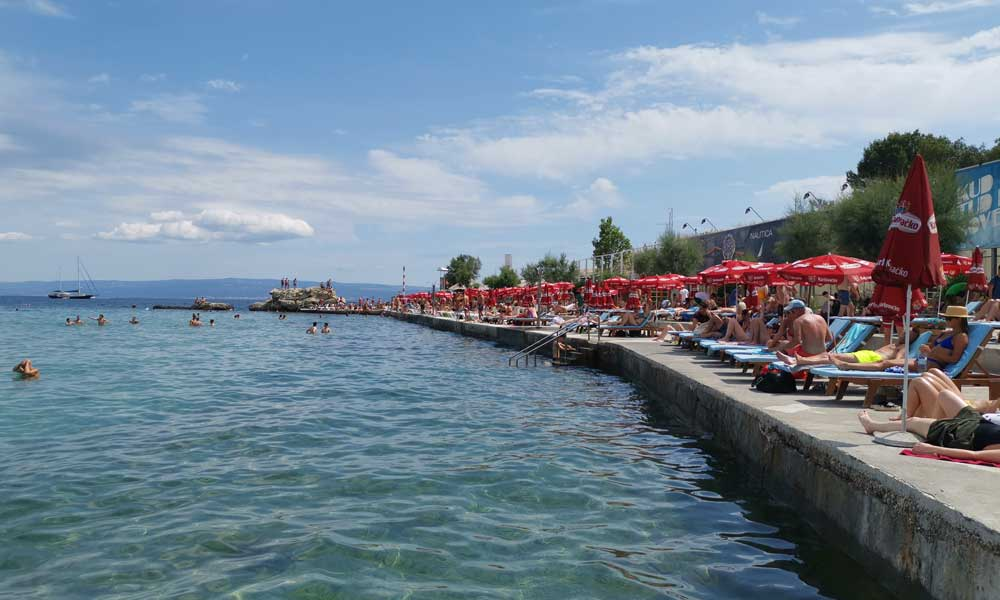 Shows the promenade at Bacvice Beach, Split - Things to do at Ultra Europe