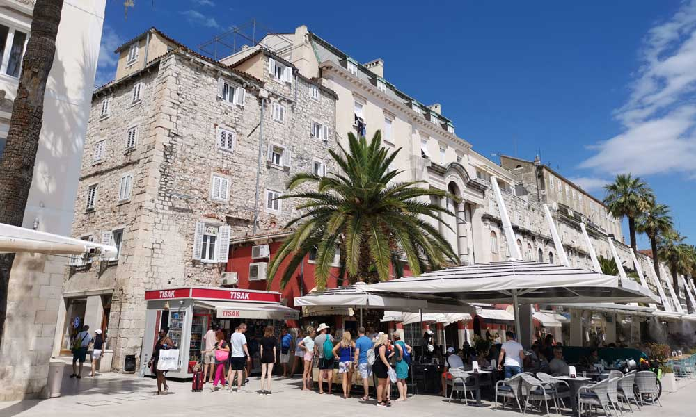 Shows the buildings of Split Old Town -  Things to do at Ultra Europe