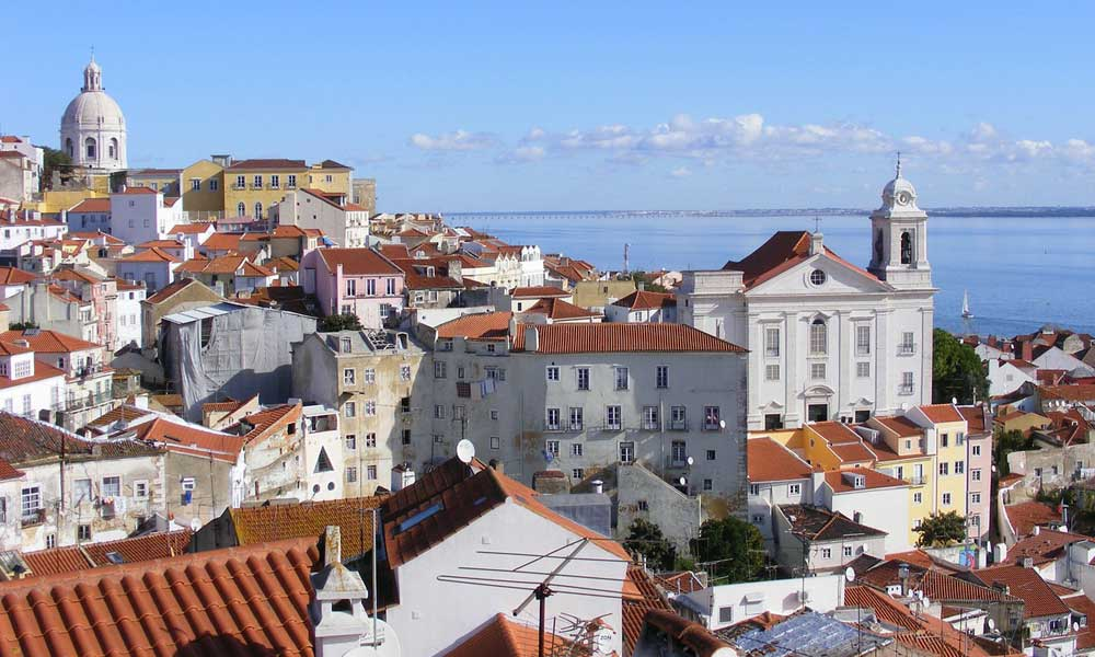 Solo holiday ideas - Shows the Alfama district in Lisbon