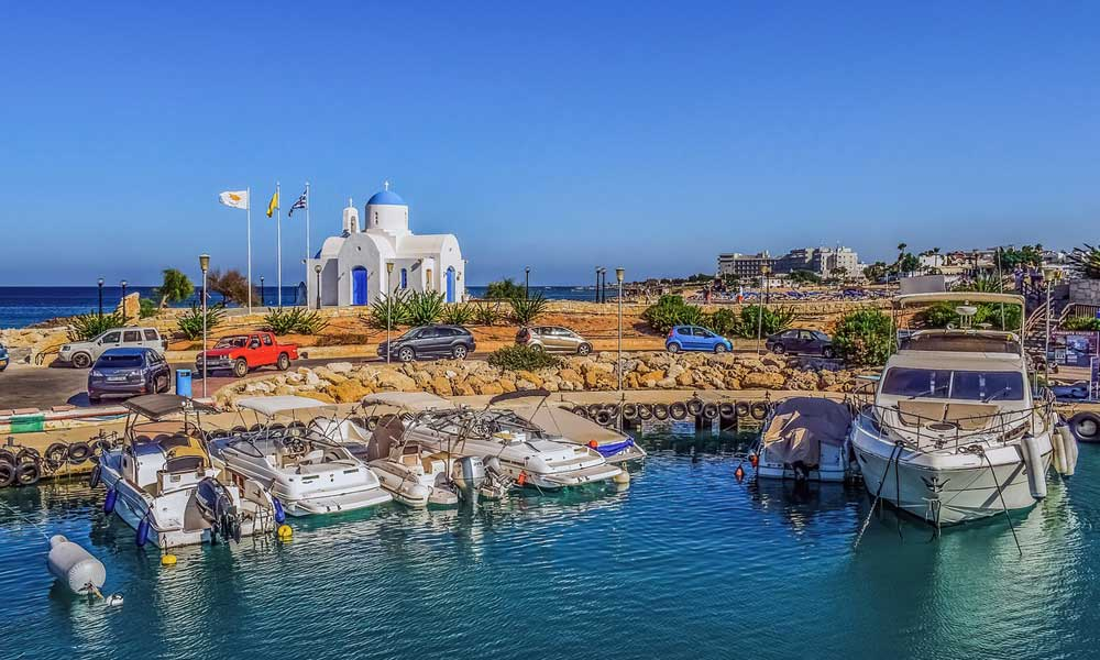 October half term holiday ideas - Shows marina in Cyprus