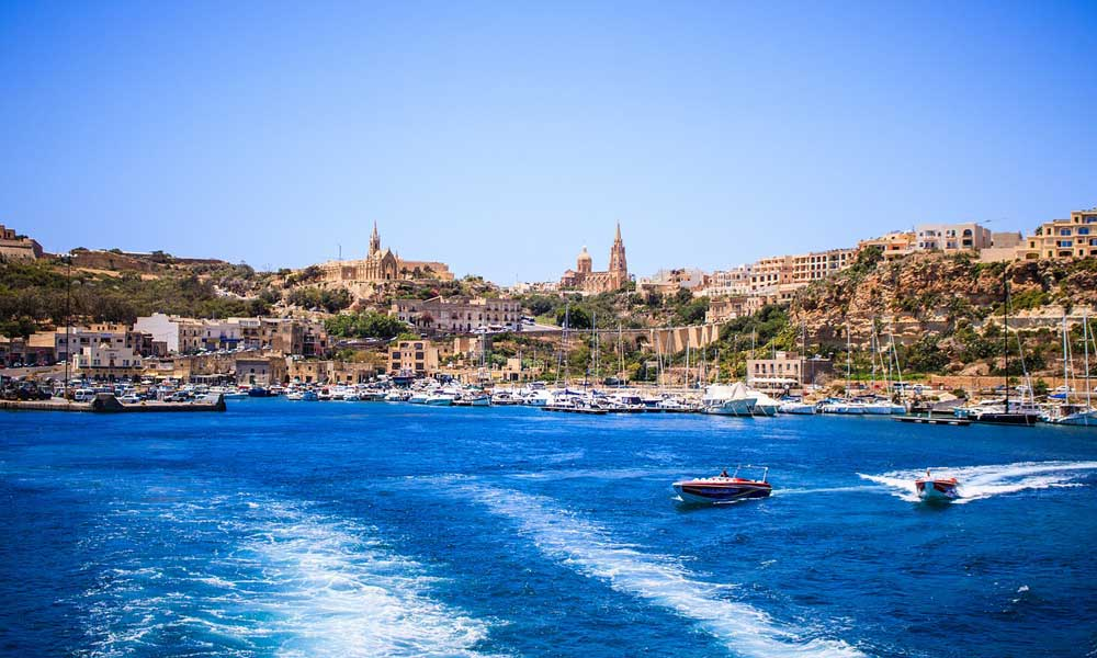 Where to go on holiday for October half term - Shows Valletta city in Malta from the sea