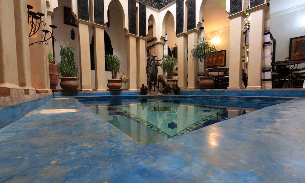 October half term city break ideas - Shows Riad swimming pool