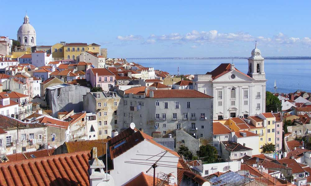 Shows a view from the Alfama district - Places to visit in Lisbon