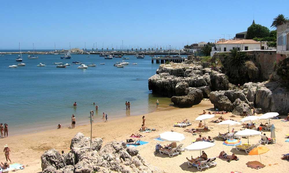 Lisbon day trips - Shows Cascais beach and marina