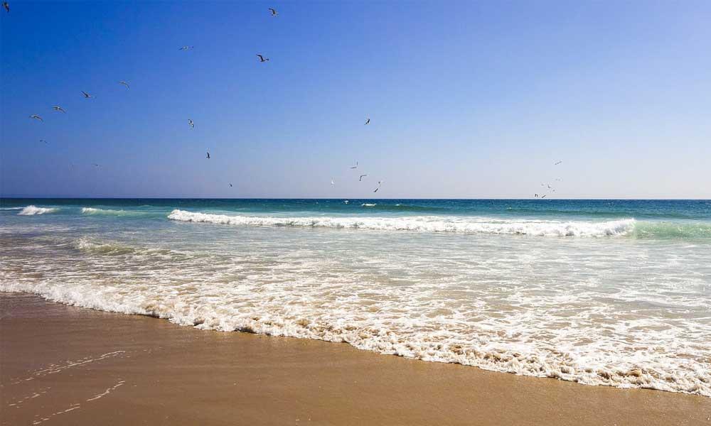 Lisbon day trips - Shows Costa da Caparica Beach