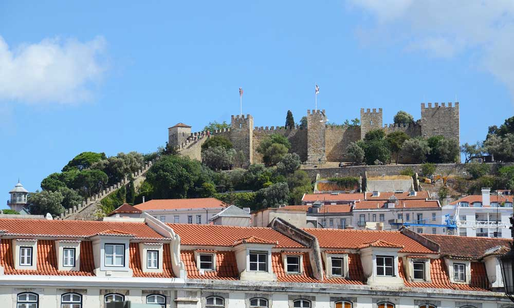 What to do in Lisbon - Shows Sao Jorge castle from afar
