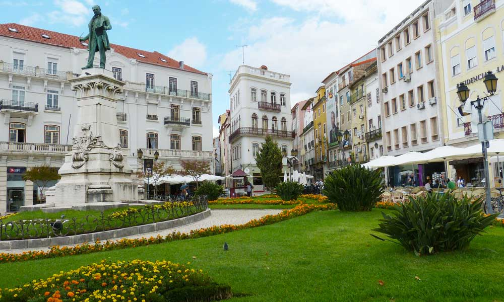 Portugal road trip itinerary - shows the UNESCO town centre of Coimbra