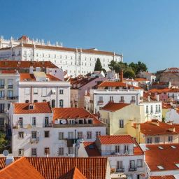 What to do in Lisbon - shows view from Alfama over the city