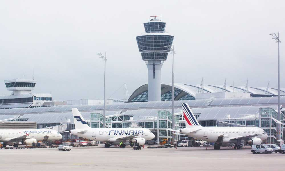 Airline going bust - What to do - Shows an airport with control tower and planes