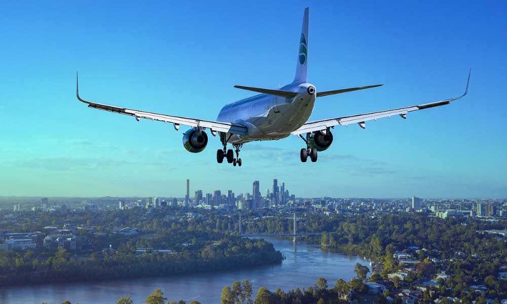 Airlines going bust - scheduled airline failure - shows plane landing
