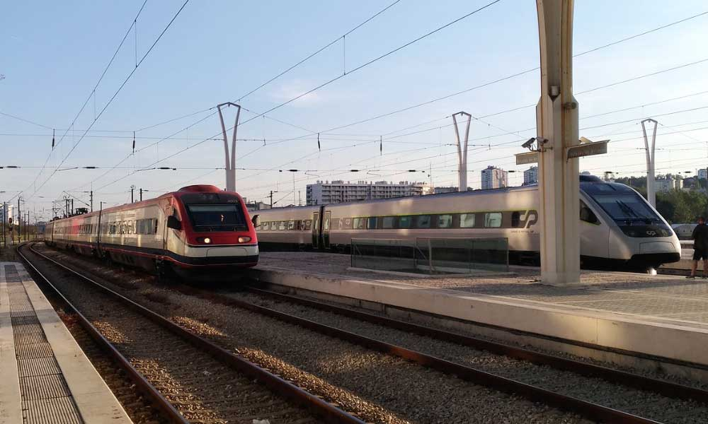 Shows high speed Portuguese trains - Portugal transport guide