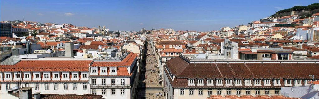 The best place to stay in Lisbon - shows the buildings of Lisbon from above