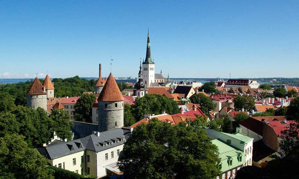 The cheapest countries to go on holiday - Shows the castles and buildings of Tallinn, Estonia