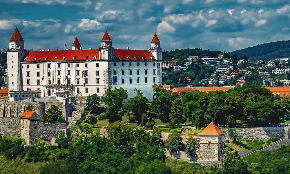 The best stag do destinations in Europe - Shows Bratislava castle