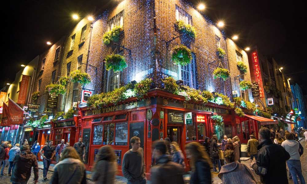 Shows Temple Bar in Dublin city centre - The best stag do destinations in Europe