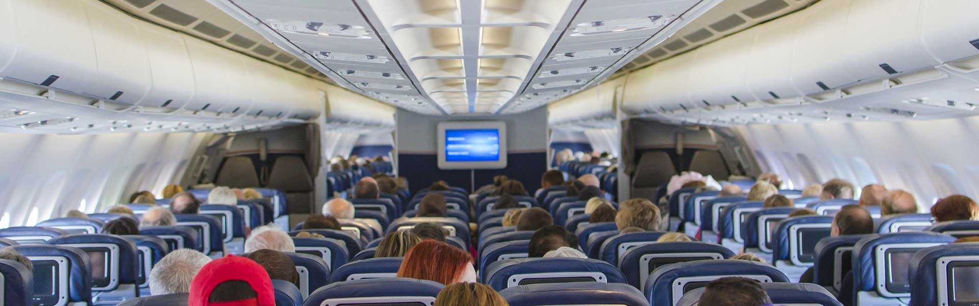 Things to do on a long haul flight - Shows an air-plane cabin