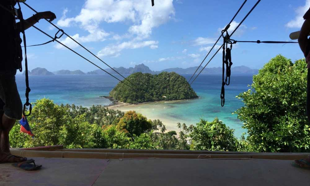 Things to do in El Nido - Shows the El Nido zipline adventure activity