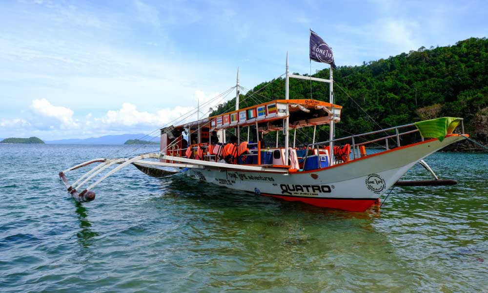 Things to do in Port Barton - Shows the One Life Adventures island hopping boat