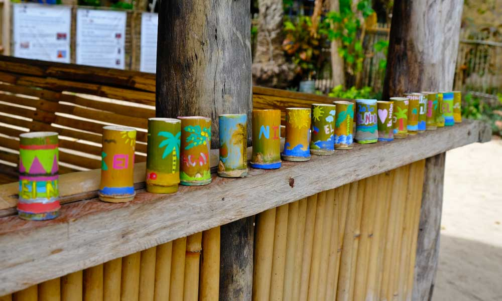 One Life Adventures Philippines tour - Shows a brightly coloured collection of shot glasses