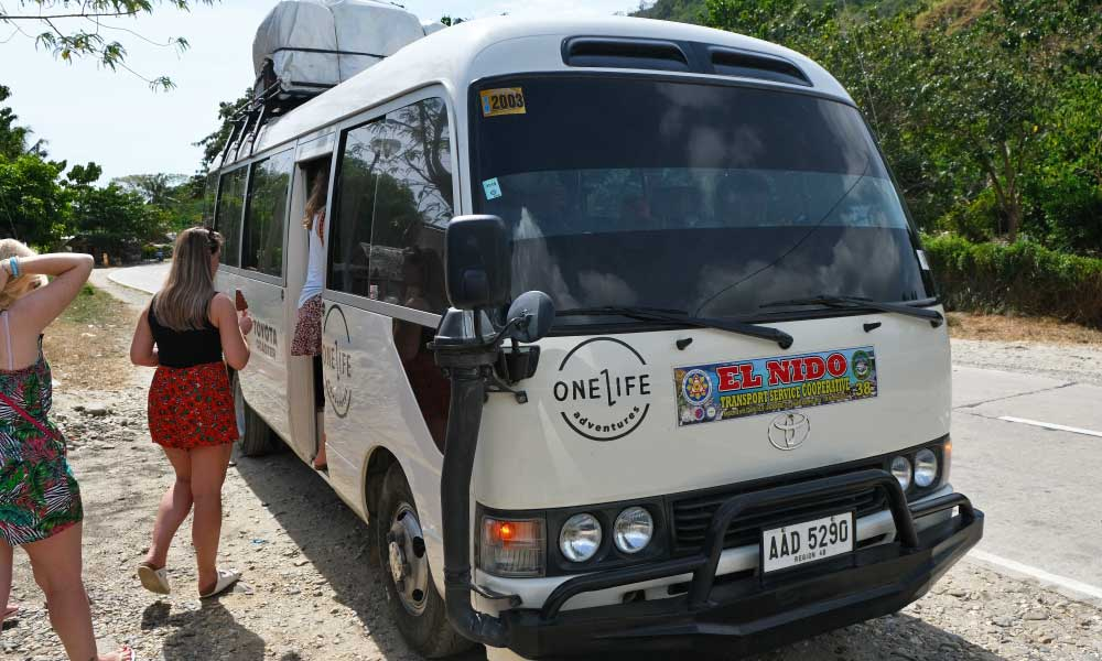 One Life Adventures Philippines tour - Shows the One Life Adventures tour bus