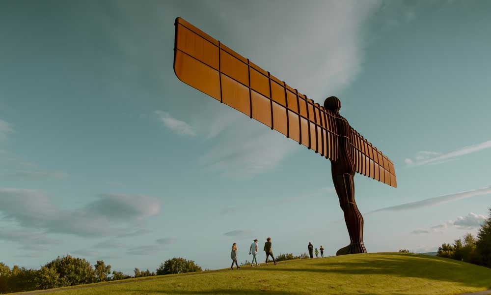 A picturesque view of the Angel of the North - Top things to do in Newcastle