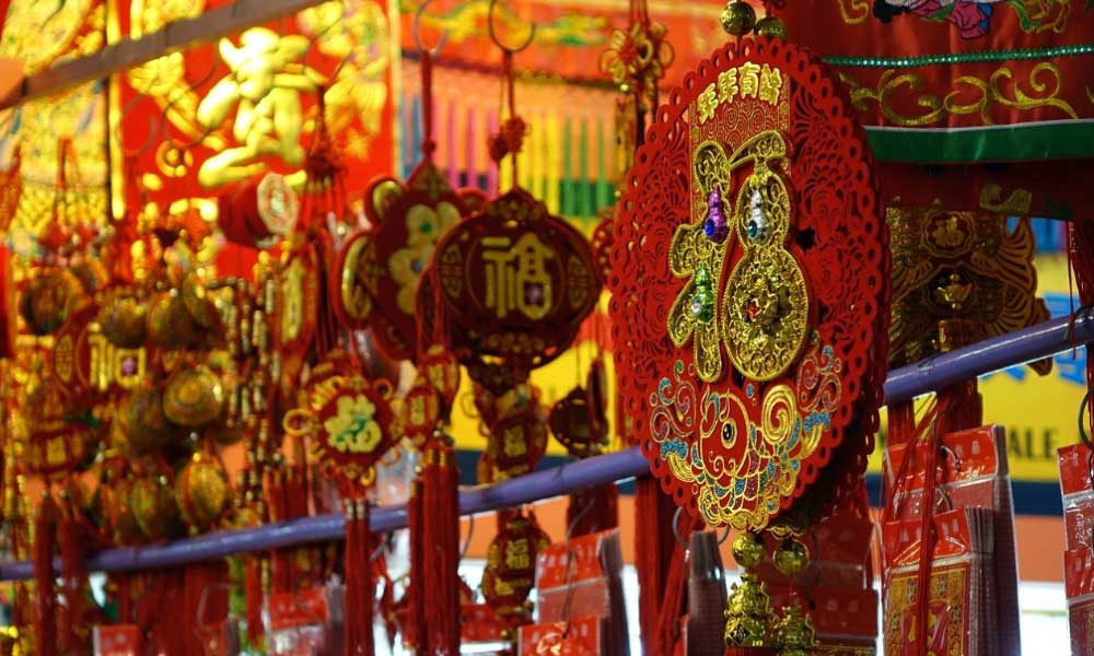 China Town shop with traditional decorations