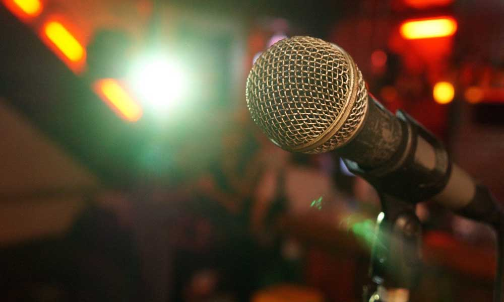 The Stand Comedy Club Newcastle - Mic on stage