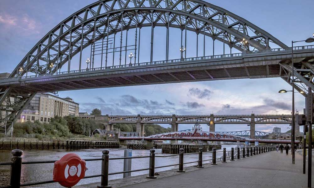Best things to do in Newcastle - Shows the Tyne Bridge at sunset
