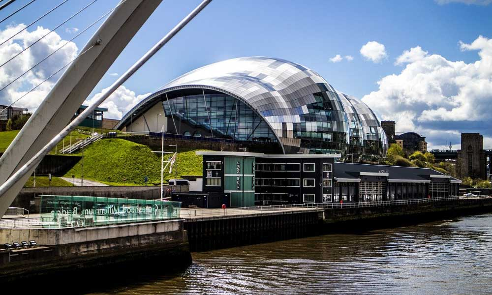 Sage concert hall alongside the River Tyne