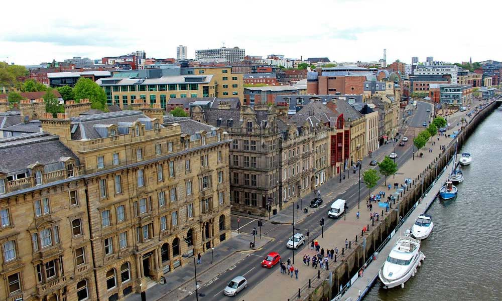 Shows the old architecture of Newcastle
