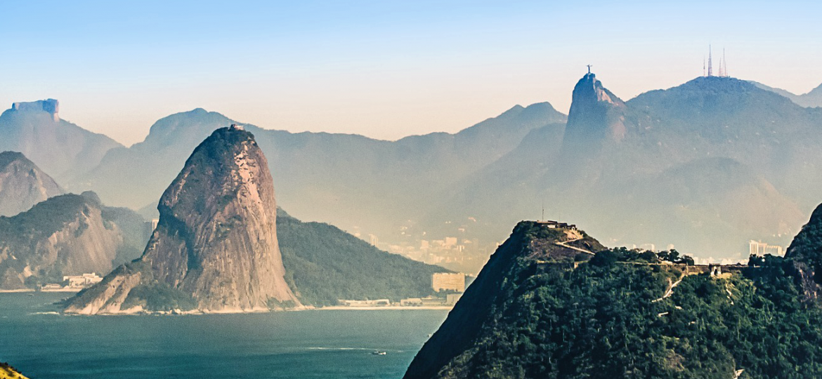 Shows Rio de Janeiro skyline - Best places to visit in Brazil