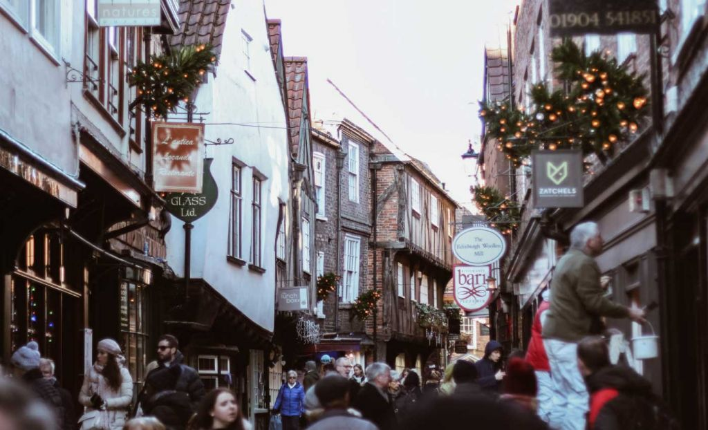 Top UK city breaks - Shambles streets in York