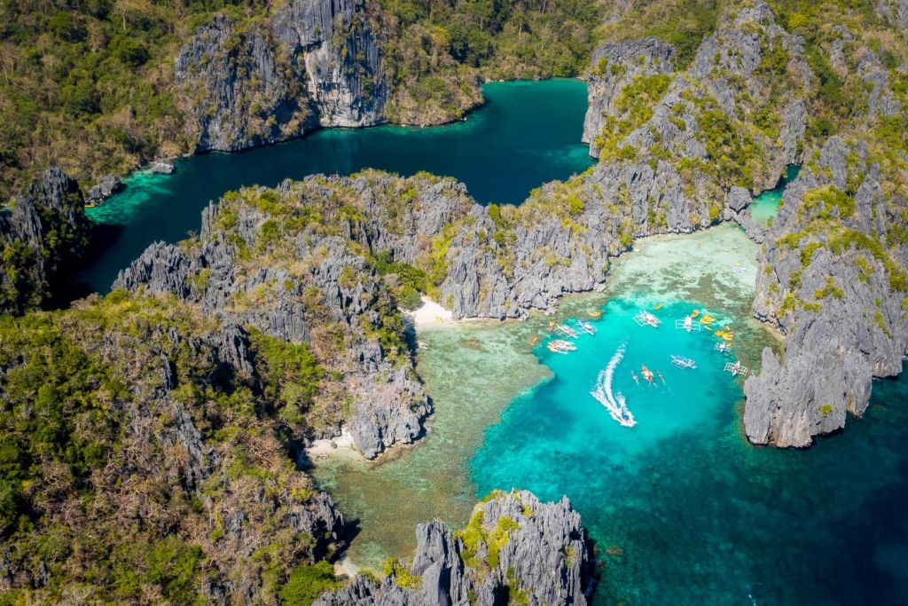 El Nido lagoons from above - Awesome things to do in El Nido