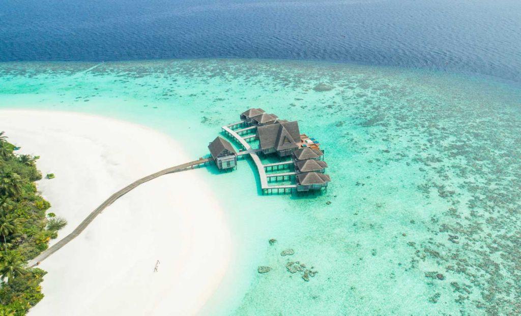 A luxury beach resort in Maldives - Romantic holiday destinations