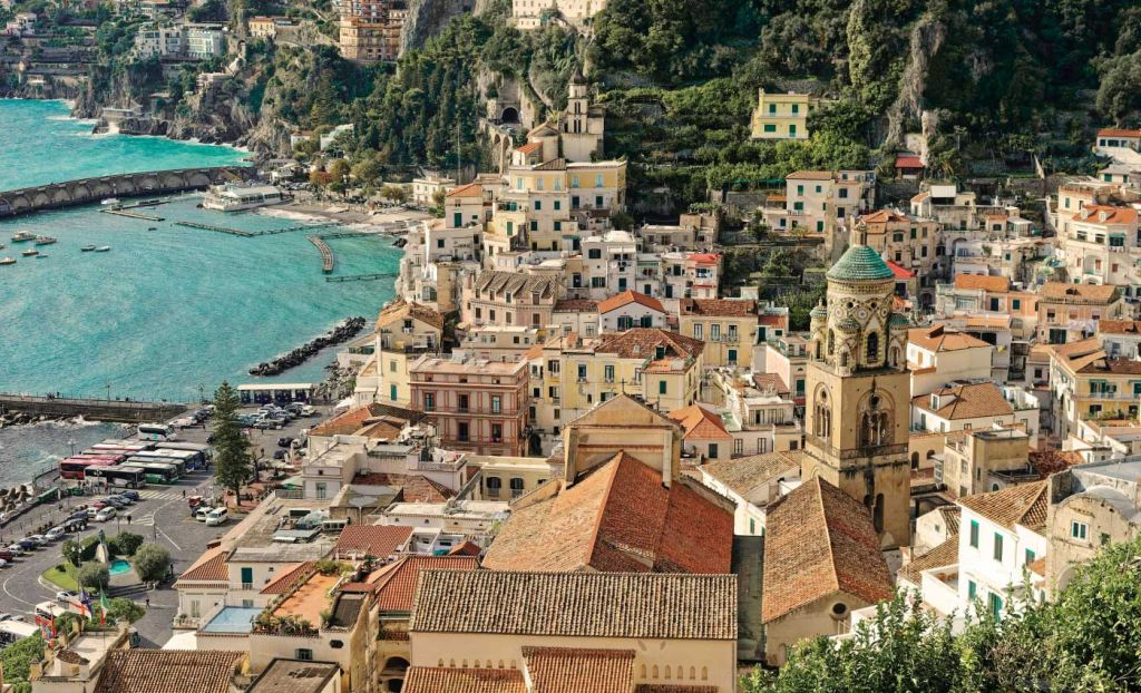 A view of Positano from above