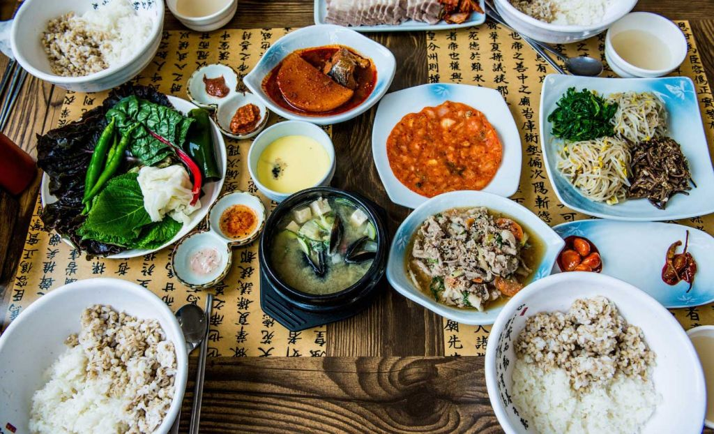 Korean food in a restaurant - Things to do South West London