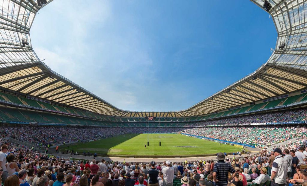 Things to do South West London - Shows a full Twickenham stadium