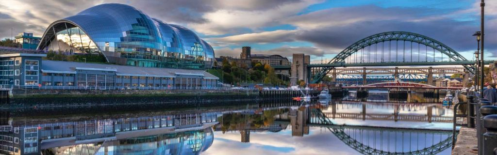 Where to stay in Newcastle - Shows Quayside bridges and Sage venue