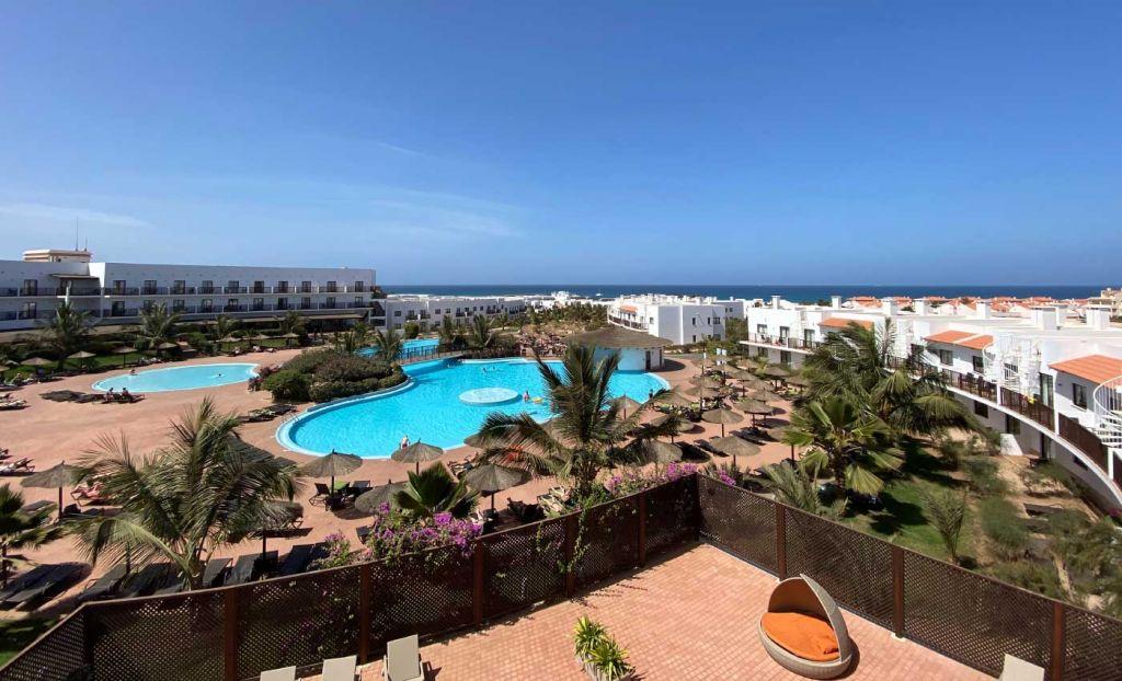 Luxury hotel pool in Cape Verde