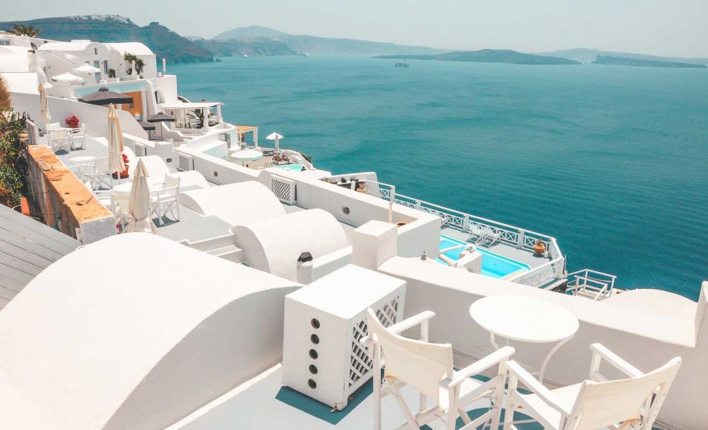 Best all inclusive holiday destinations - Rooftops of Santorini Greece
