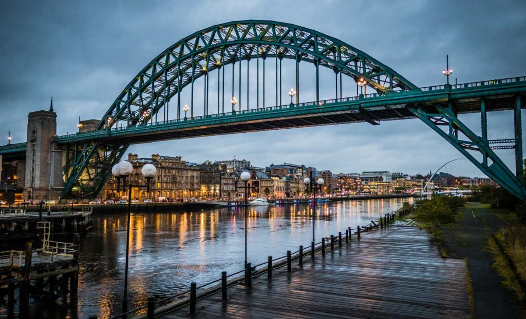 Cheap places to visit in the UK - Shows the Tyne Bridge in Newcastle