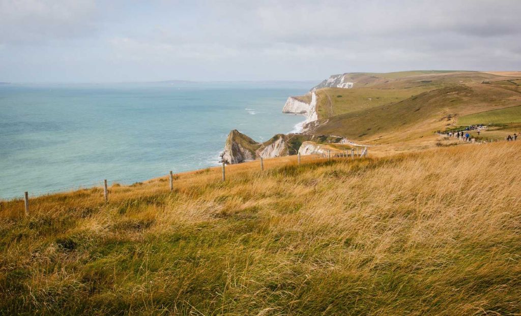 The cliffs of Dorset overlooking the ocean
