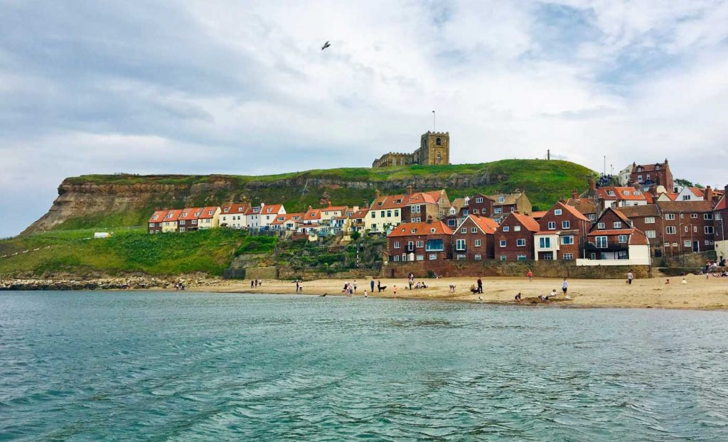 Houses along the coastline of Whitby